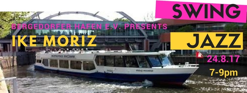 Serrahn Queen Ike Moriz singt boat swing blues jazz live pop  Bergedorfer Hafen Kurt Buschmann schiff harbor music 2017 goldrush gold rush tour